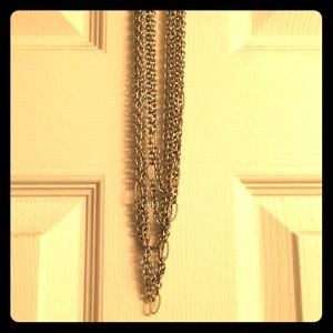 Silver & Gold Chain Choker/Necklace